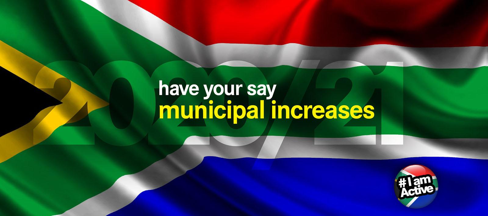 DearSA municipal increases